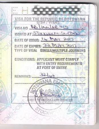 Виза в Ботсвану картинка