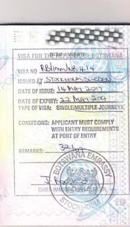 Виза в Ботсвану для граждан Украины картинка