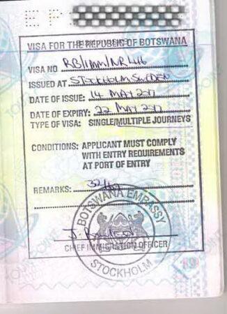 Виза в Ботсвану для украинцев фото