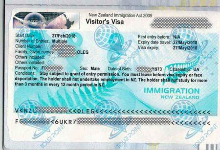 Виза в Новую Зеландию для украинцев фото