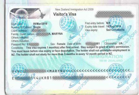 Виза в Новую Зеландию фото