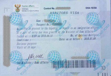 Виза в ЮАР для граждан Украины фото