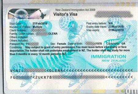Виза в Новую Зеландию картинка