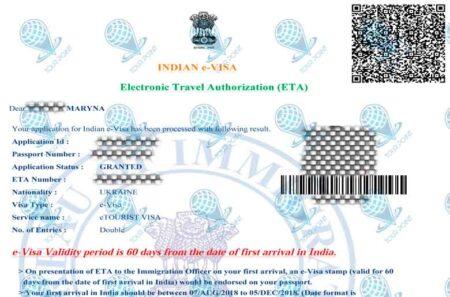 Электронная виза в Индиюдля украинцев фото