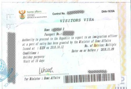 Виза в ЮАР картинка