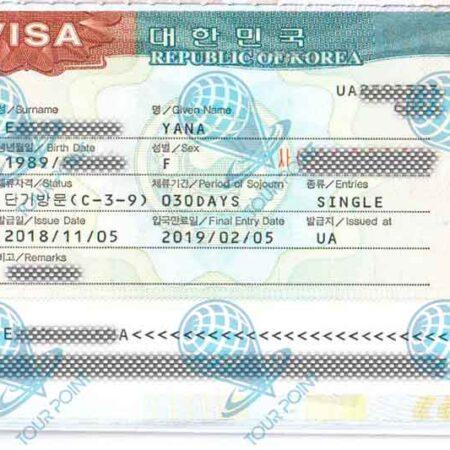 Виза в Южную Кореюдля граждан Украины картинка