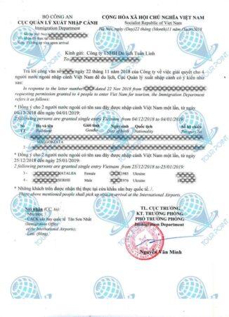 Виза во Вьетнамдля граждан Украины фото