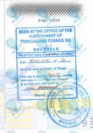 Виза в Тринидад и Тобаго фото