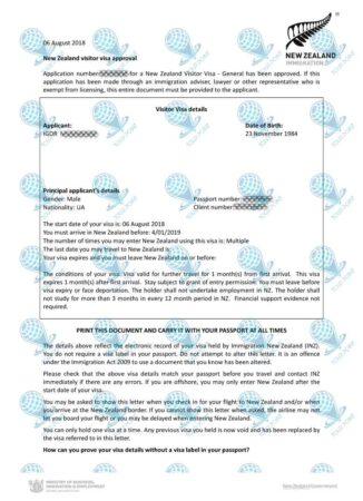 Виза в Новую Зеландию для граждан Украины фото