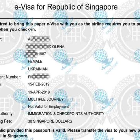 Электронная виза в Сингапурдля украинцев