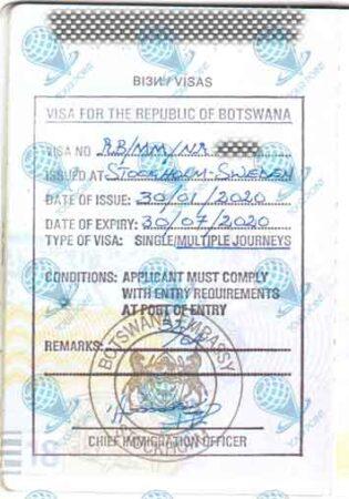 Виза в Ботсвану фото