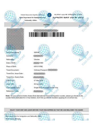 Электронная виза в Эфиопиюфото