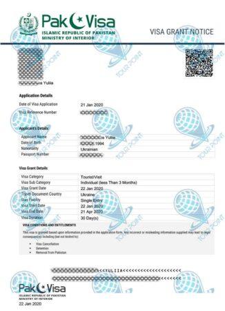 Электронная виза в Пакистанфото
