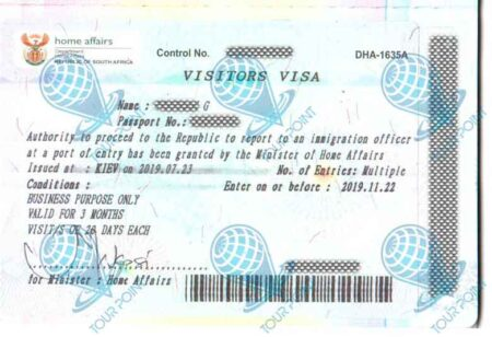 Виза в Южную Африку для граждан Украины фото