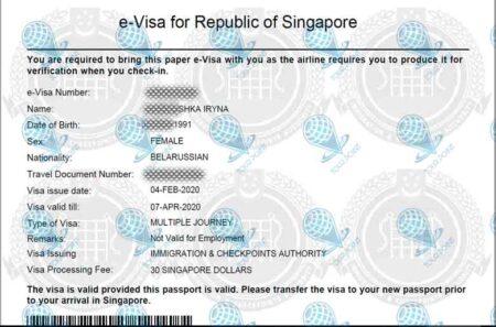 Виза в Сингапурдля граждан Украины картинка