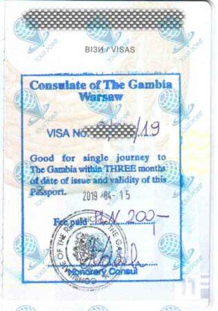 Виза в Гамбию фото