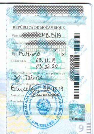 Виза в Мозамбик для граждан Украины фото
