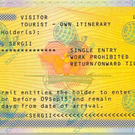 Виза в Папуа-Новую Гвинею для украинцев фото