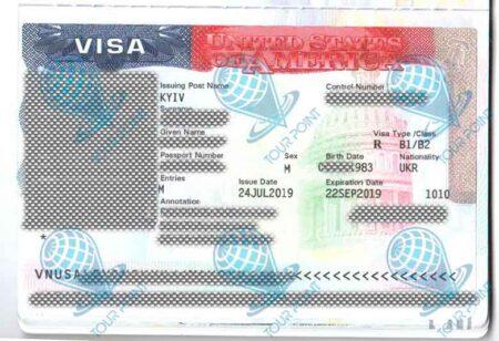Виза в США изображение