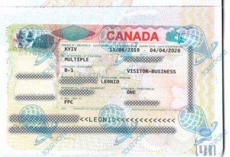 Виза в Канаду изображение