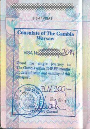 Виза в Гамбию для украинцев фото
