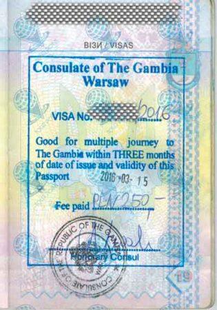 Виза в Гамбию изображение
