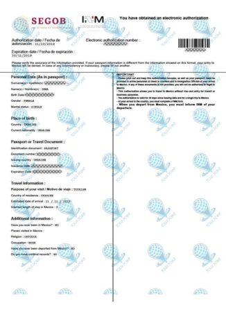 Электронная виза в Мексику для граждан Украины фото