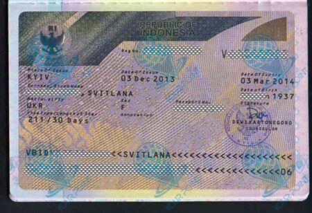 Виза в Индонезию для граждан Украины фото