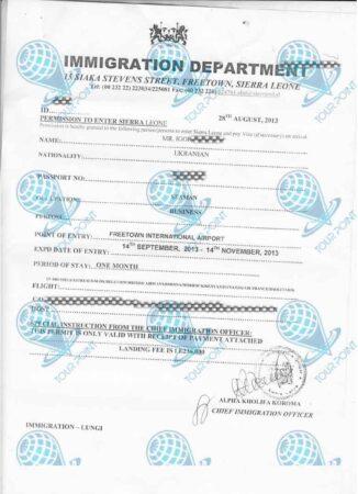 Виза в Сьерра-Леоне для граждан Украины фото