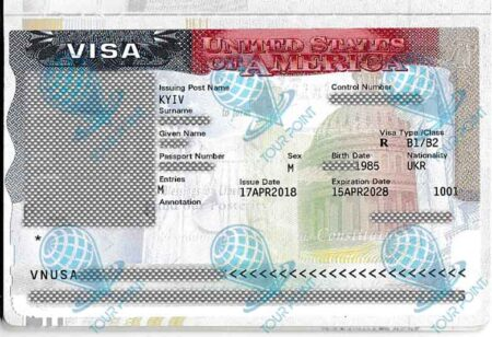Виза в США для украинцев фото