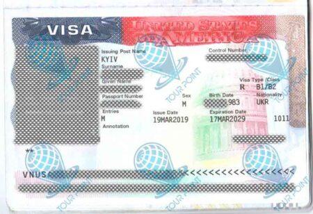 Виза в Америку изображение