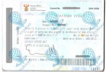 Виза в Южную Африку изображение