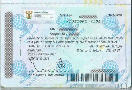 Виза в ЮАР изображение