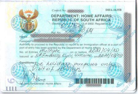 Виза в Южную Африку фото