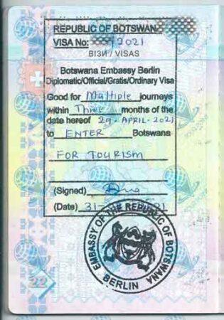 Виза в Ботсвану изображение
