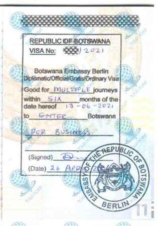 Виза в Ботсвану для граждан Украины фото